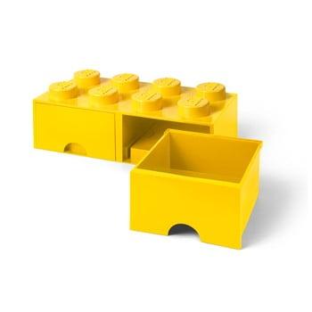 Cutie depozitare cu 2 sertare LEGO®, galben imagine
