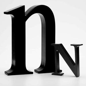 "Malé ""n"" 17x14 cm, černá"