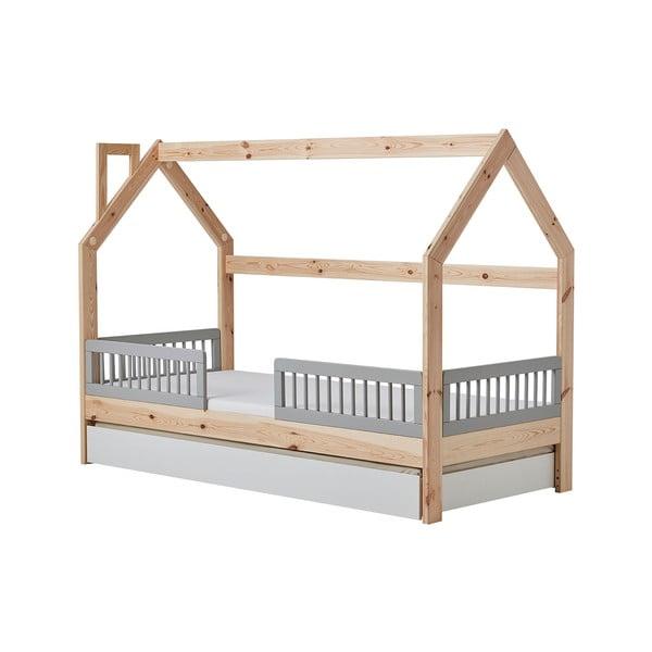 Detská drevená posteľ v tvare domčeka Pinio House, 206 × 150 cm