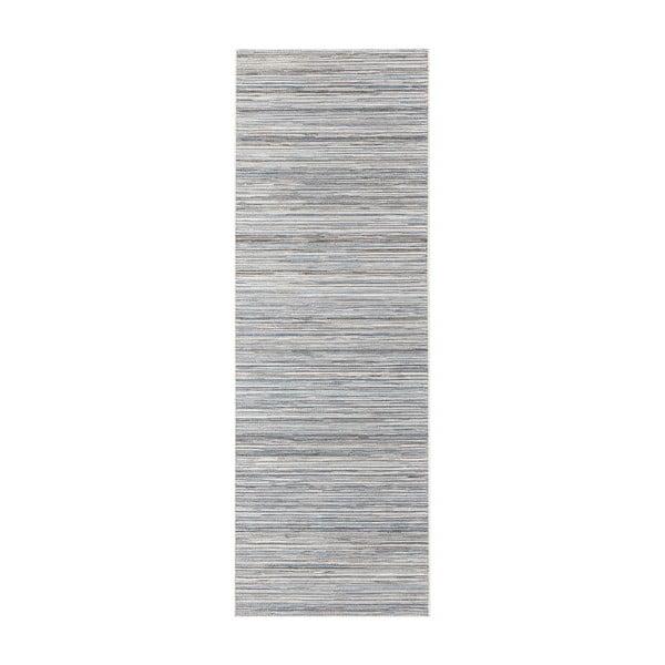 Koberec vhodný i na ven Lotus 80x240 cm, světle šedý melír