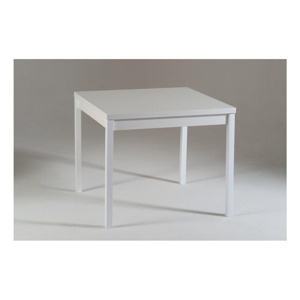 Bílý dřevěný rozkládací jídelní stůl Castagnetti Top, 90 cm