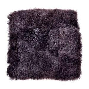 Pernă de blană cu fir scurt pentru scaun Blacky, 37x37 cm