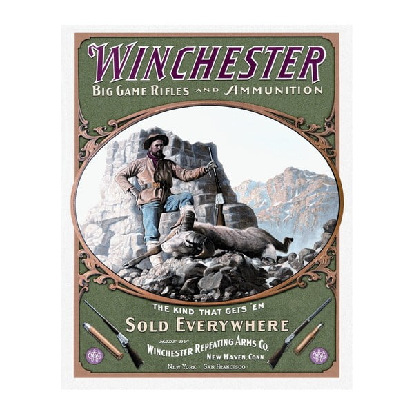 Plechová cedule Winchester