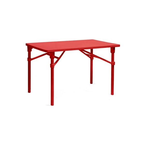 Sada 2ks skládací židle Zac Spring Rosso + skládací stůl Zic Rosso