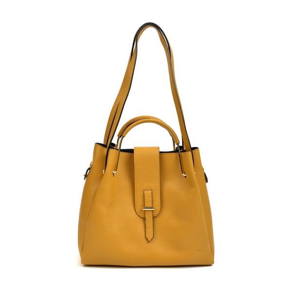 Žlutá kožená kabelka Roberta M Luisa
