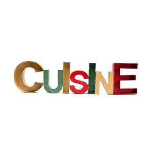 Dekorativní kovový nápis Antic Line Cuisine, 97 x 25 cm