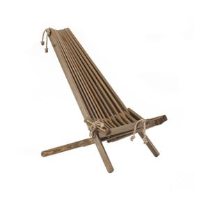 Șezlong ecologic din lemn de pin EcoFurn EcoChair, maro
