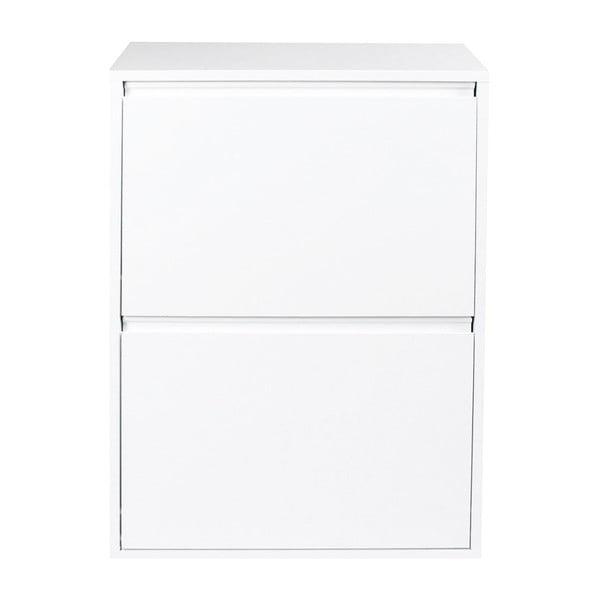 Biała szafka z koszami do segregacji śmieci Evergreen House Sort