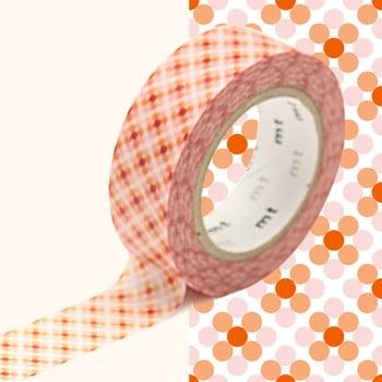 Bandă decorativă Washi MT Masking Tape Stephanie, rolă 10 m imagine