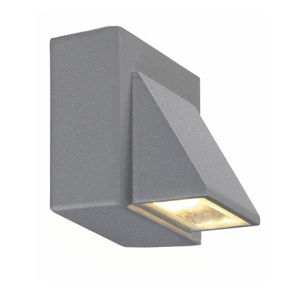 Sivé nástenné svietidlo Markslöjd Carina, 8 x 7,5 cm