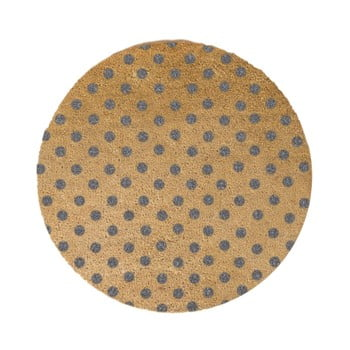 Covor intrare rotund Artsy Doormats Grey Dots, ⌀ 70 cm, gri