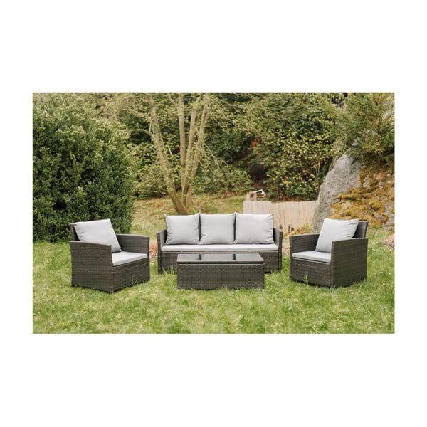 Set mobilier grădină din ratan artificial Timpana Dion