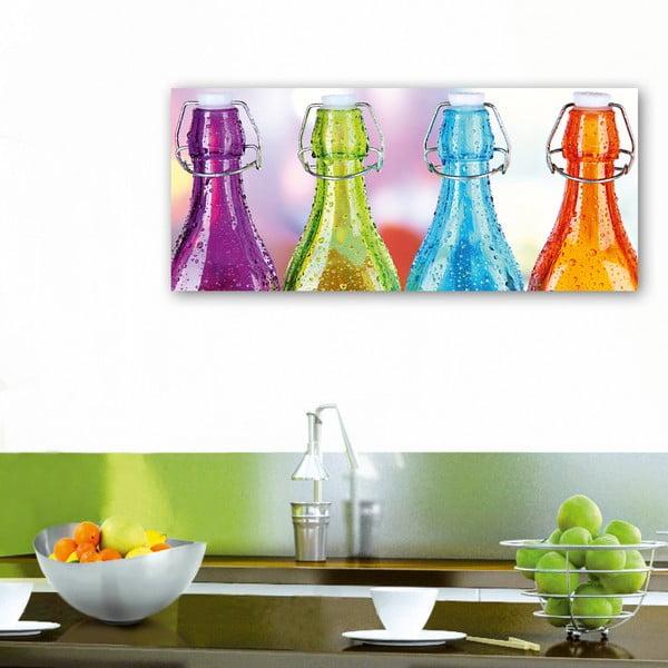 Dekorativní nástěnný panel Lahve, 115x50 cm