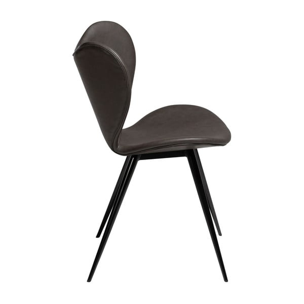 Tmavě šedá jídelní židle z eko kůže DAN–FORM Denmark Dreamer