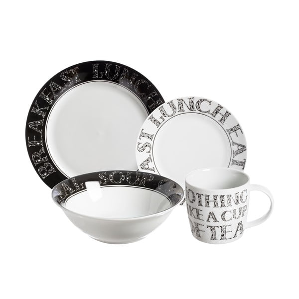 Jídelní sada talířů Price & Kensington Soho, 16 ks