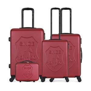 Sada 4 vínových cestovních kufrů na kolečkách GENTLEMAN FARMER Integre & Vanity