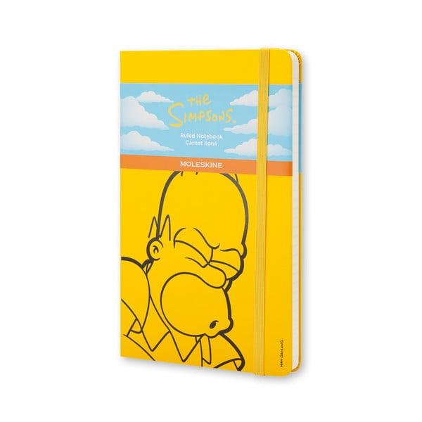 Žlutý zápisník Moleskine The Simpsons, velký