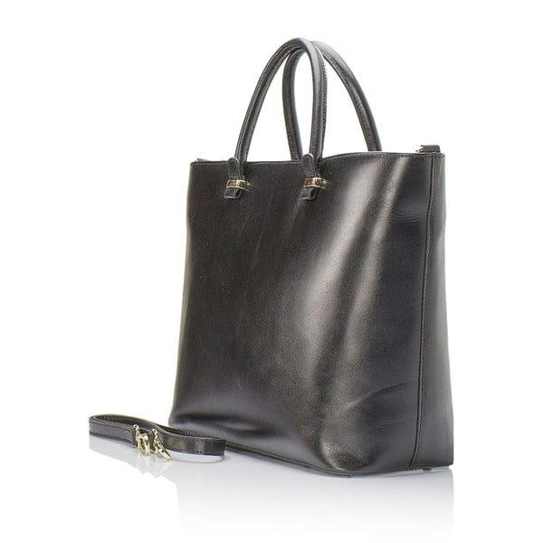 Kožená kabelka Giulia Massari 8817 Black