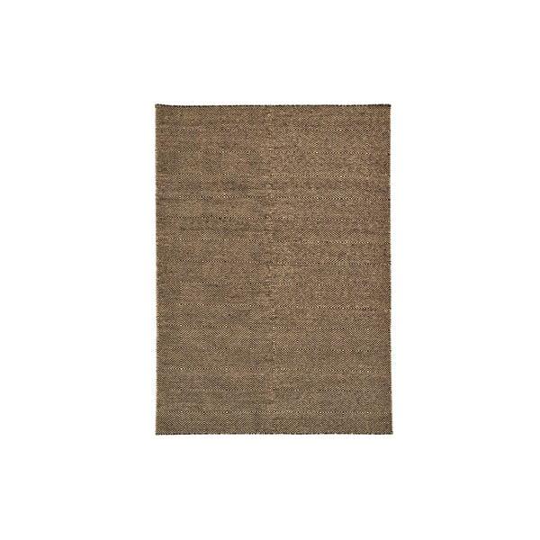 Ručně tkaný koberec Dark Brown Kilim, 160x222 cm