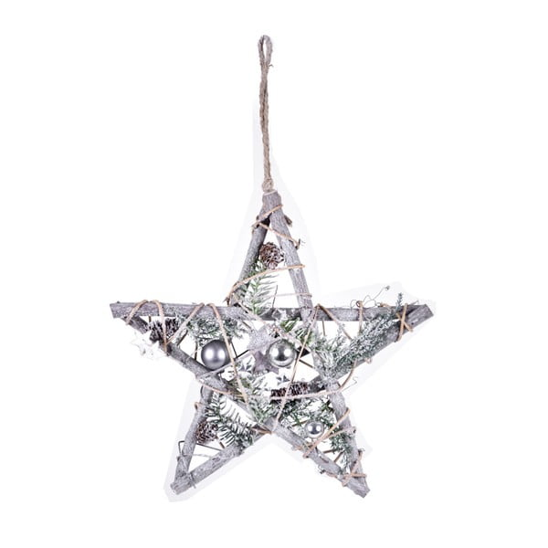 Závěsná dekorace ve tvaru hvězdy s LED světýlky Ego Dekor