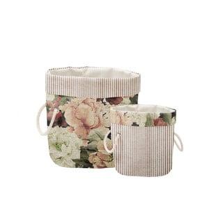 Sada 2 ks dekorativních košů Linen Couture Roses