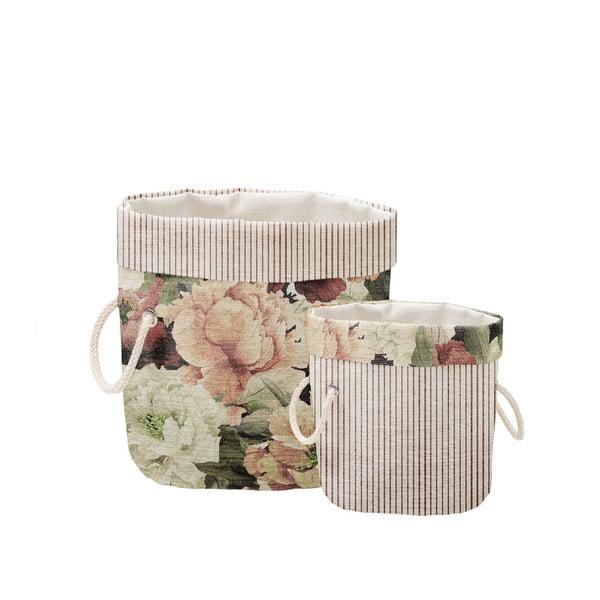 Zestaw 2 koszyków dekoracyjnych Linen Couture Roses