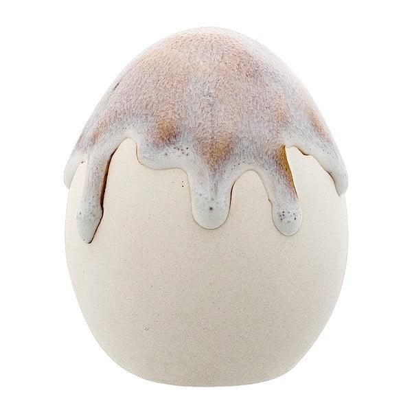 Decorațiune din ceramică Bloomingville Egg, gri