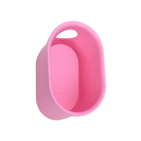 Nástěnný stojan na cyklistické doplňky Cycloc Loop, růžový