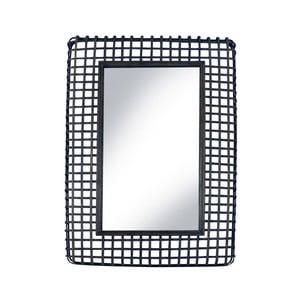 Zrcadlo v černém ratanovém rámu Red Cartel Square, 63 x 92 cm