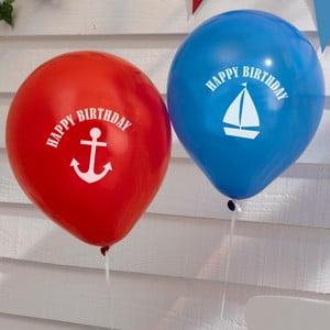 Sada 8 nafukovacích balónků Neviti Ahoy There Happy Birthday