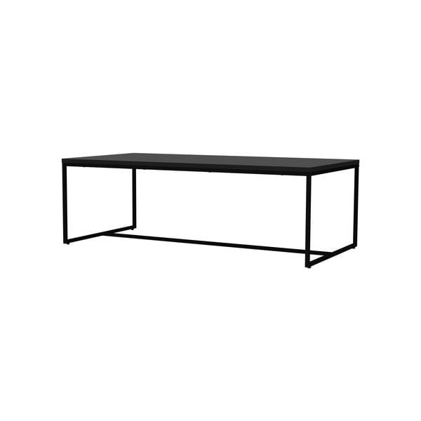 Černý konferenční stolek s kovovými nohami v černé barvě Tenzo Lipp