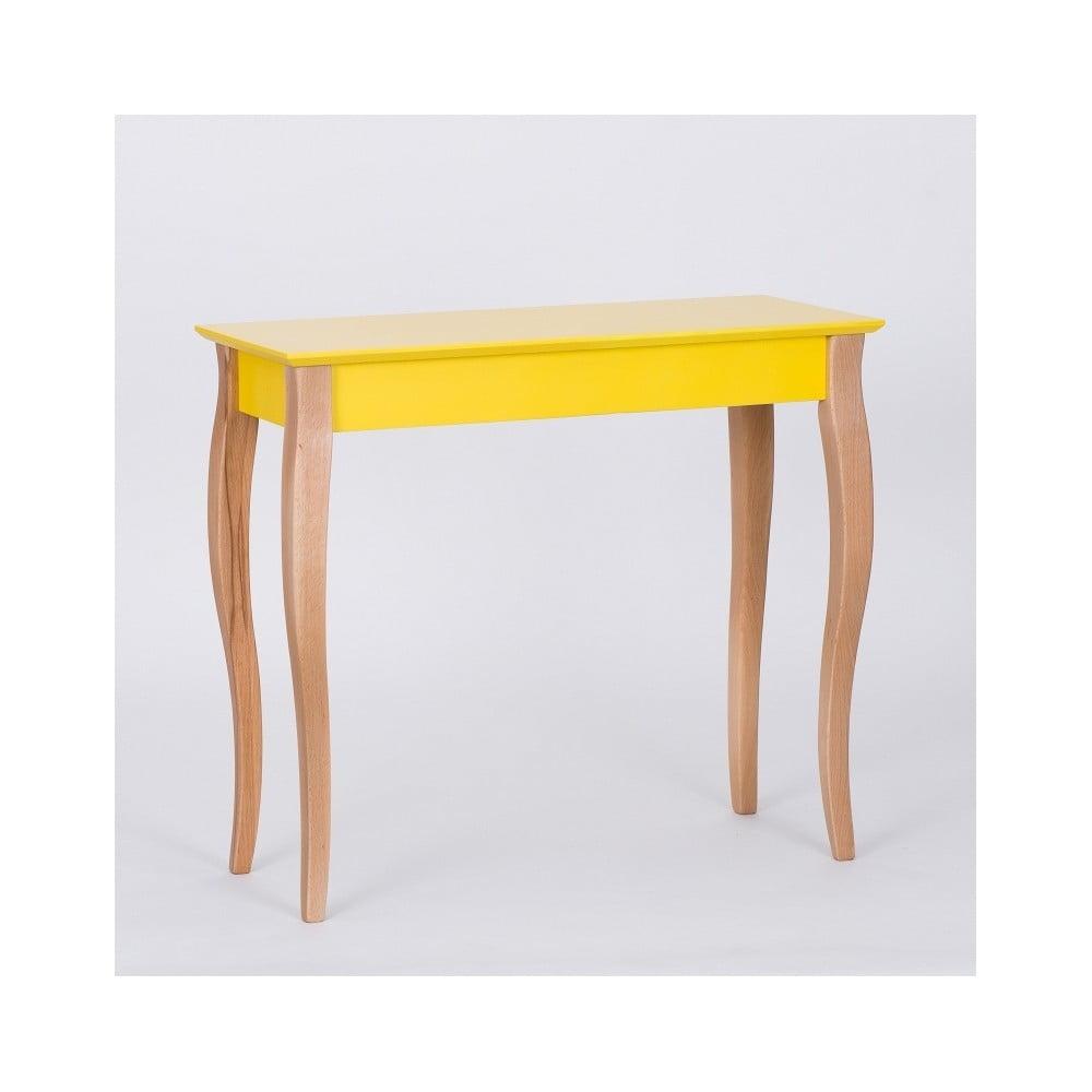 Žlutý odkládací stolek Ragaba Console, délka 85 cm