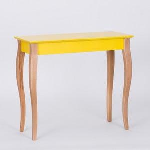 Žlutý odkládací stolek Ragaba Console,délka85cm