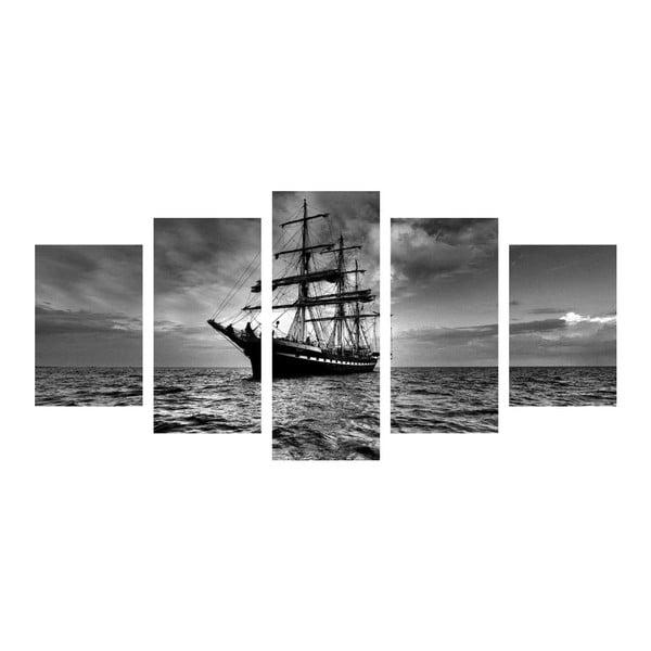 Vícedílný obraz Black&White Ship