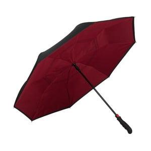 Tmavě vínový golfový deštník Von Lilienfeld Remy FlicFlac