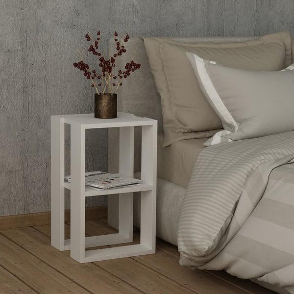 Bílý noční stolek Lonie