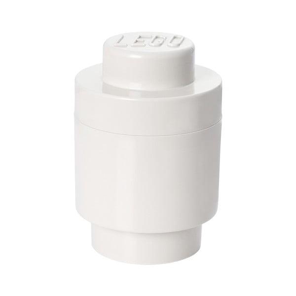 Cutie depozitare rotundă LEGO®, alb, ⌀ 12,5 cm