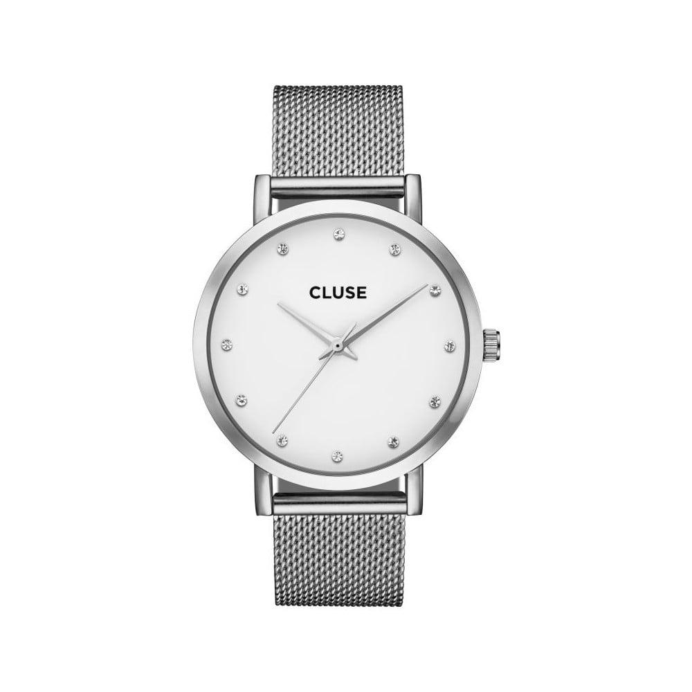 0a9e23b794f Dámské hodinky z nerezové oceli ve stříbrné barvě Cluse La Bohéme Pavane  Stones