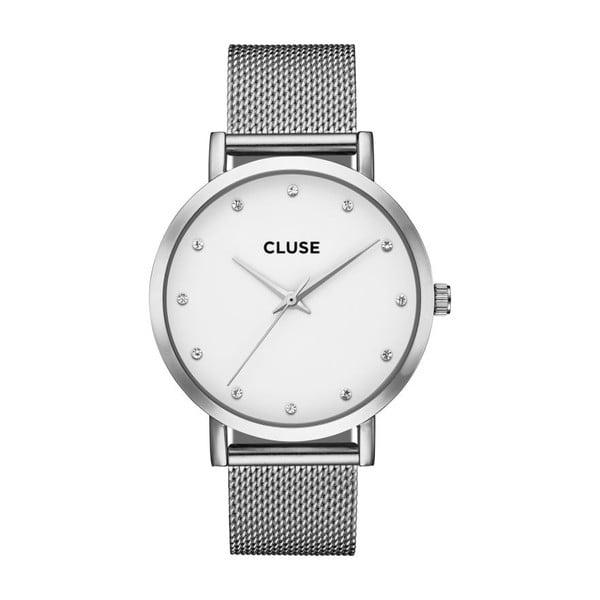 Dámske hodinky antikoro v striebornej farbe Cluse La Bohéme Pavan Stones