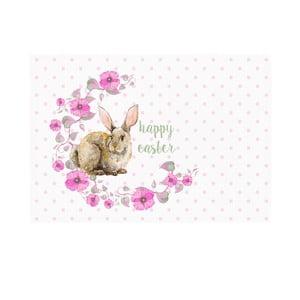 Sada 2 prostírání Apolena Rabbit Wishes Happy Easter, 33x45cm