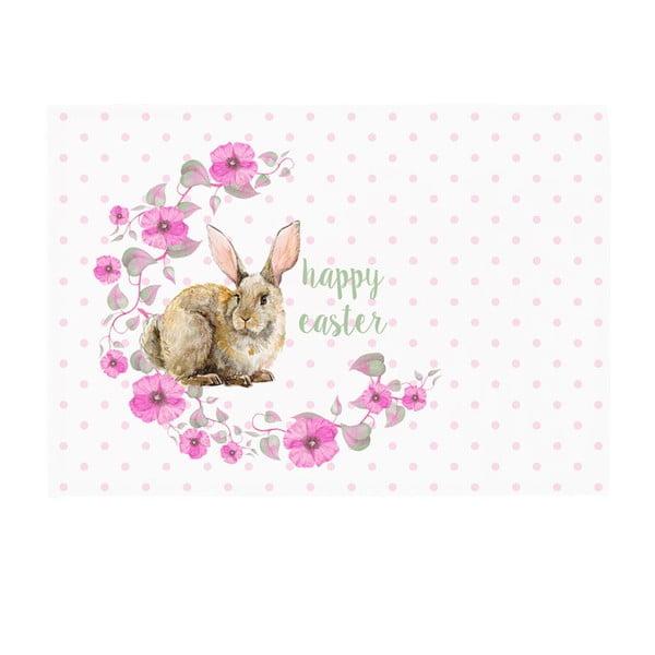 Sada 2 prestieraní Apolena Rabbit Wishes Happy Easter, 33×45cm