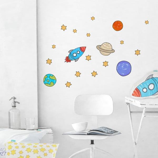 Samolepka na stěnu Space Rocket