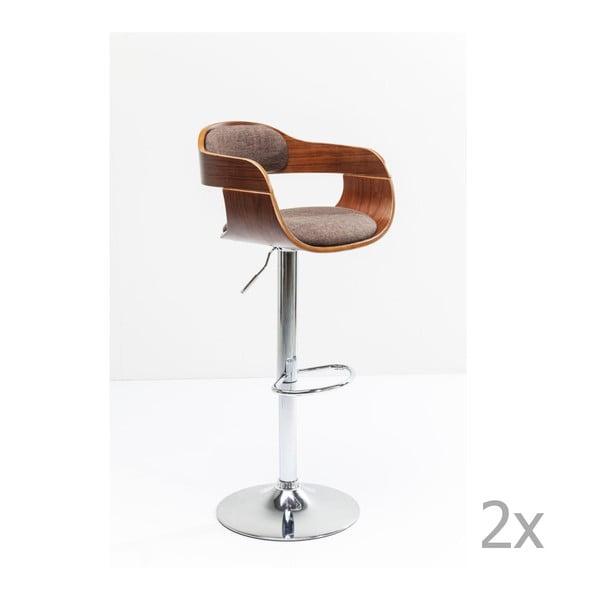 Monaco Schoko 2 db-os barna bárszék szett - Kare Design