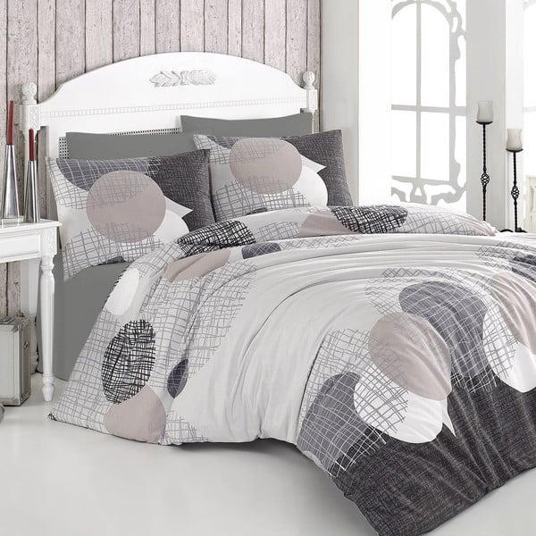 Lenjerie de pat cu cearșaf pentru pat dublu Nazenin Home Jadore,200x220cm