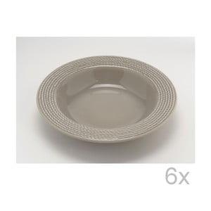 Hluboký talíř Taupe 23 cm (6 ks)