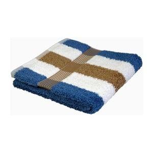 Ručník New York Strips Beige/White/Blue, 70x140 cm