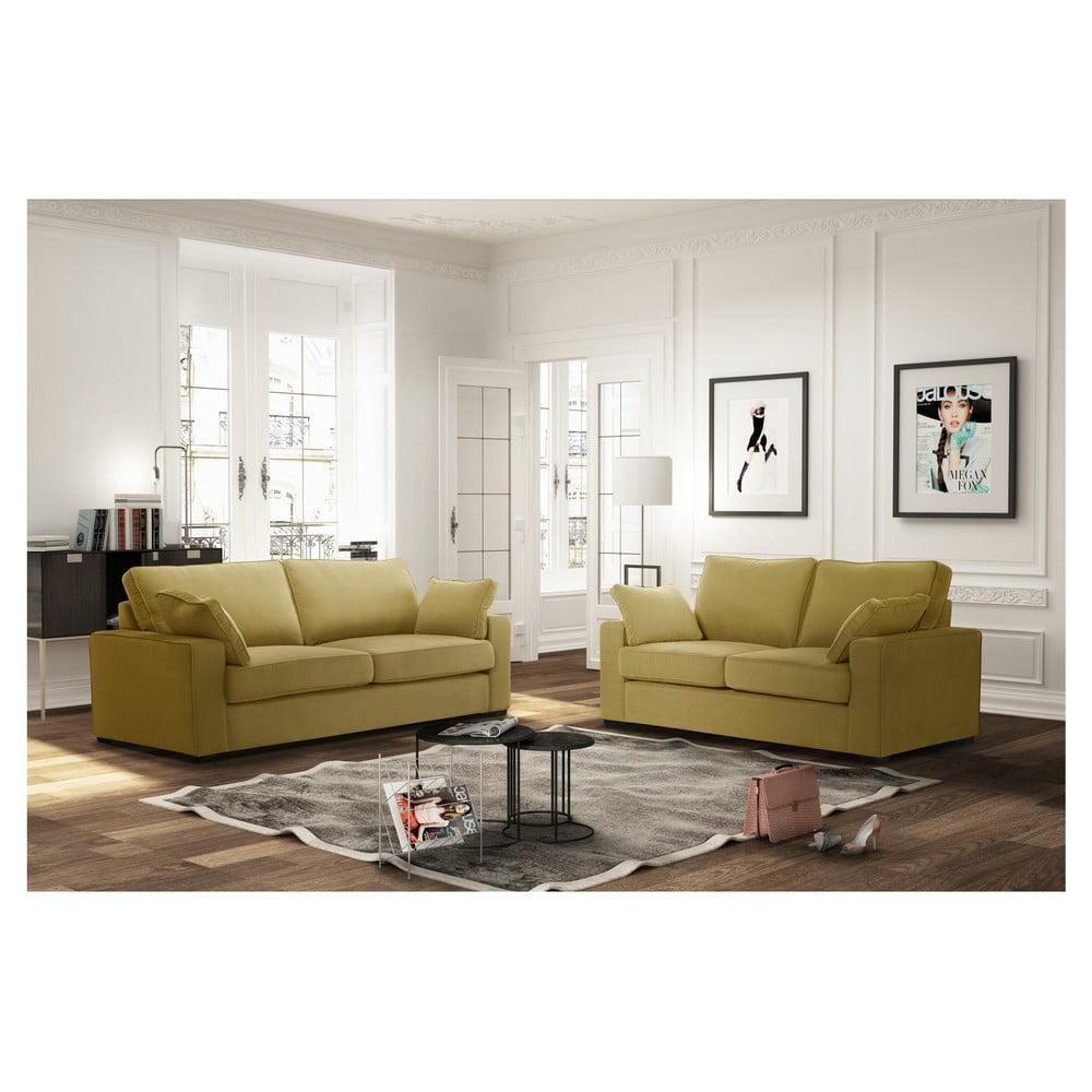 set 2 piese jalouse maison serena galben bonami. Black Bedroom Furniture Sets. Home Design Ideas