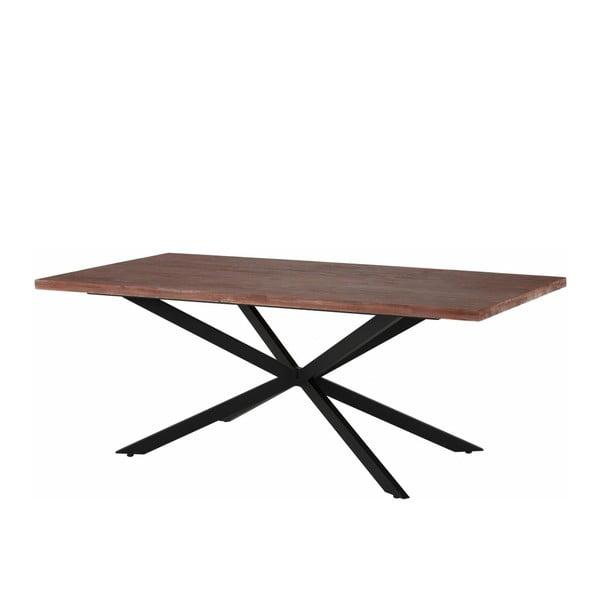 Jídelní stůl v tmavém přírodním dekoru Støraa Adrian, 200 cm