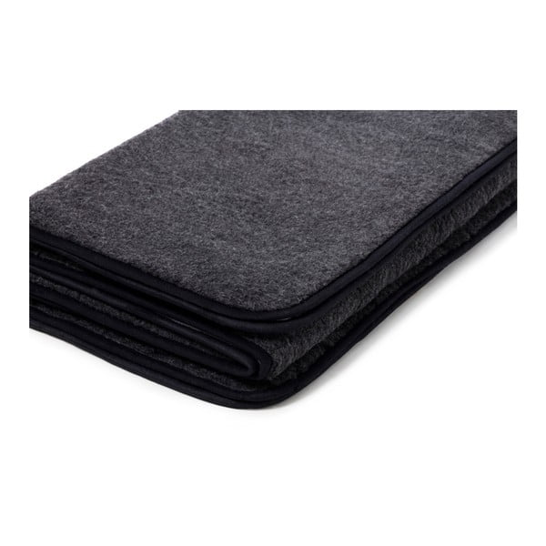 Quilt fekete merinói gyapjú takaró, 140 x 200 cm - Royal Dream