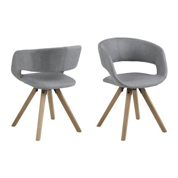 Šedá jídelní židle s dřevěnými nohami Actona Grace Corsica